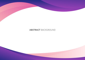 Abstract business template pink and purple gradient wave or curved shape isolated on white background