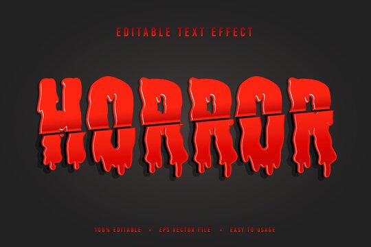 decorative horror Font and Alphabet vector