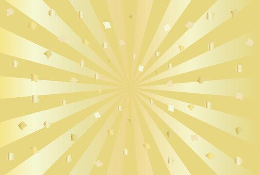 祝賀・紙吹雪・放射状の背景イラスト