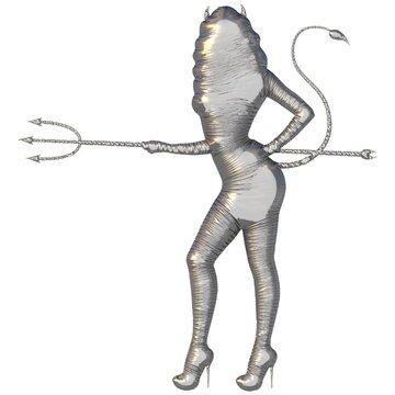 weibliche Figur als Teufel