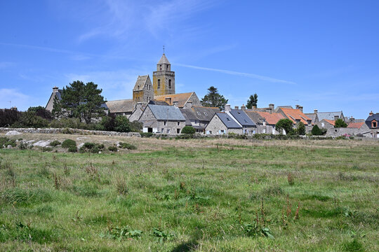 Village of Gatteville-le-Phare in Normandy