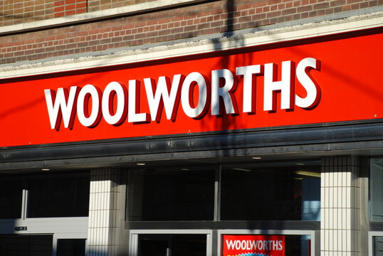 Exterior of a Woolworths store at Ashford in Kent, England on December 8, 2008. All 807 branches of the chain closed in the UK between December 2008 and January 2009.