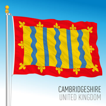 Cambridgeshire county flag, United Kingdom, vector illustration