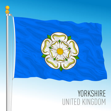 Yorkshire county flag, United Kingdom, vector illustration
