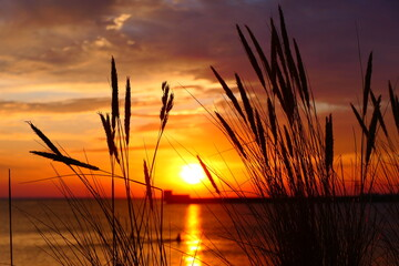 Fototapeta Zachód słońca morze obraz