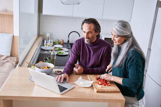 Couple prepares their favorite recipe
