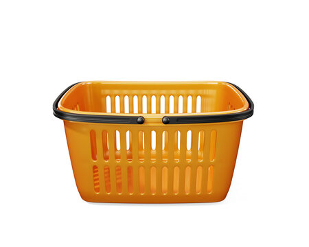 Shopping basket isolated side view