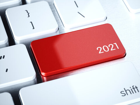 Red computer keyboard button 2021