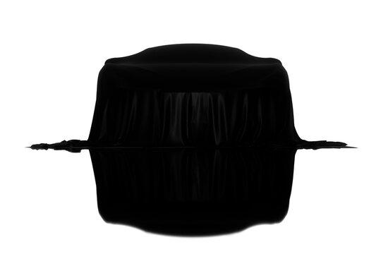 Racing car black mirror covered