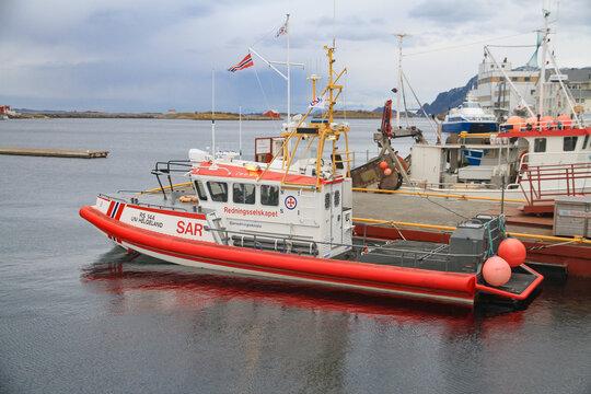 The rescue boat in Brønnøysund Northern Norway
