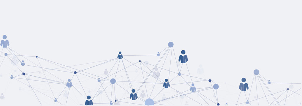 Abstract human connections headline background