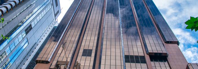 Skyward view of Central Business District buildings, Sydney, Australia Fotobehang