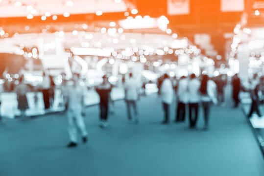 Defocused Image Of People In Mall