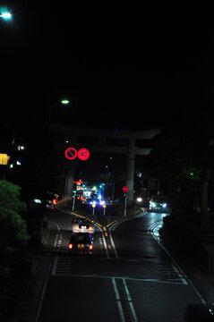 鎌倉の交通と道路と鳥居