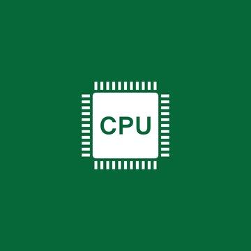 Circuit processor symbol and icon