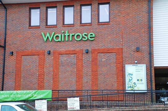 Exterior of a branch of supermarket chain Waitrose at Tenterden in Kent, England on May 17, 2012.