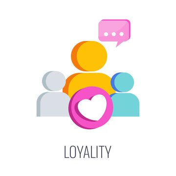 Loyality brand icon. Loyal consumer. Regular customer.