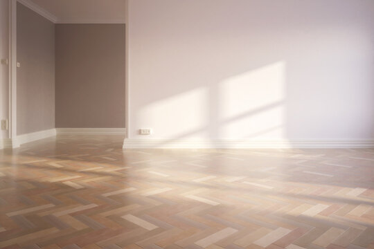 Empty renovated apartment - 3d visualization
