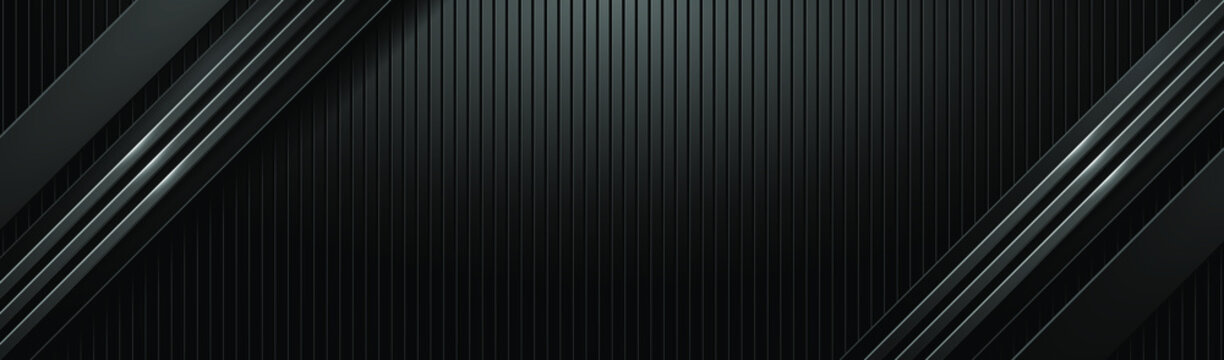 Dark hi-tech banner with different textures. Black textured metal and brushed steel. EPS10