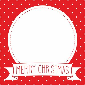 Holiday vector card with hand drawn Merry Christmas wishes