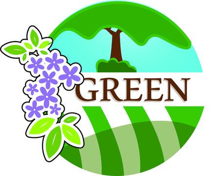 Grass Logo - Landscaping Logo - Lawn Care Logo