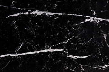 Nero Marquina - marble stone slab in black and white color, texture, background for perfect interior or design project.