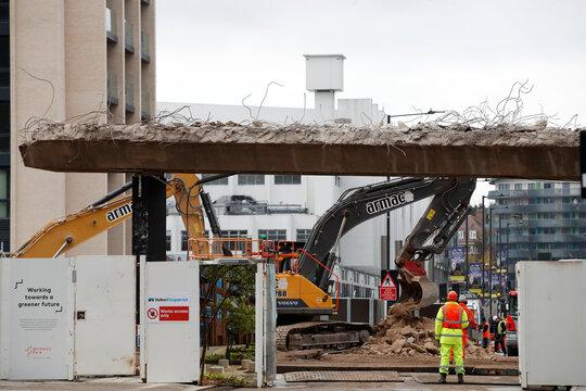 Wembley Way demolished
