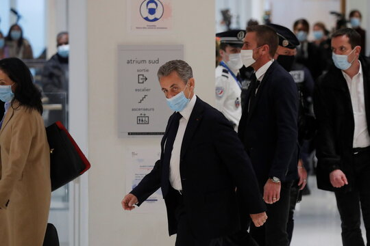 Former French President Sarkozy goes on trial for corruption charges