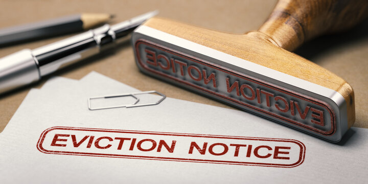 Landlord tenant law. Eviction notice.