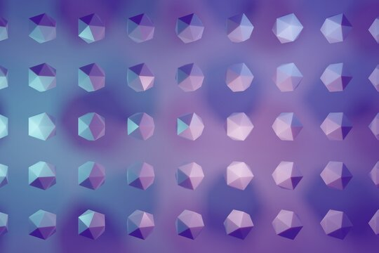 Geometric pattern background with neon color and shadows 3d illustration