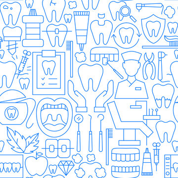 Dentist Line Seamless Pattern