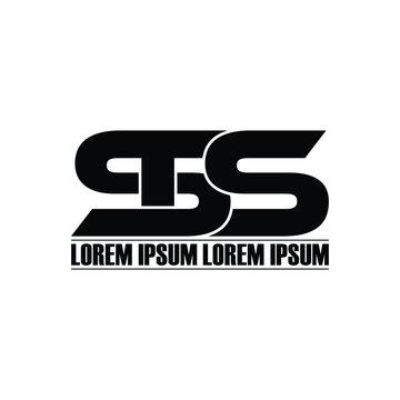 STS letter monogram logo design vector