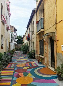 Narrow street in Sete, France