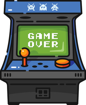 Game Over Arcade Game Filled Outline Icon