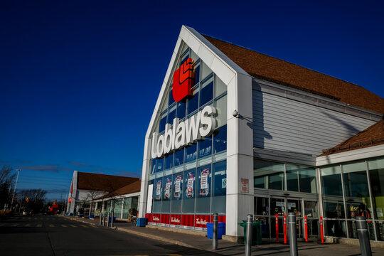 Loblaws supermarket in Ottawa, Ontario on November 18, 2020.