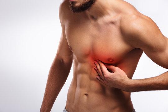 Coronary heart disease pain, abdomen human anatomy