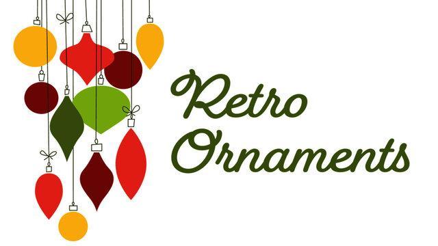 Flat Retro Christmas Ornament Illustration