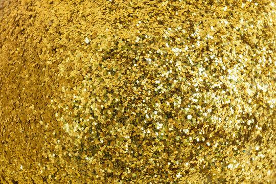 Full Frame Shot Of Golden Sequins