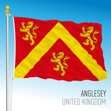 Anglesey county flag, Wales, United Kingdom, vector illustration