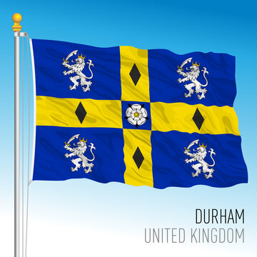 Durham county flag, United Kingdom, vector illustration