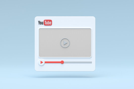 Youtube video player 3d design or video media player interface