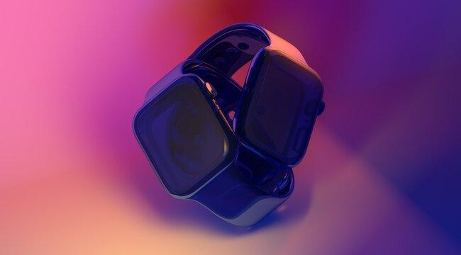 smartwatch wearable mobile watch digital 3d