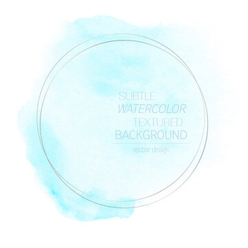 Logo watercolor aqua blue paint background - Vector. Perfect art abstract design for any creative ideas.