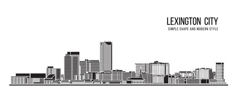Cityscape Building Abstract Simple shape and modern style art Vector design -  Lexington city