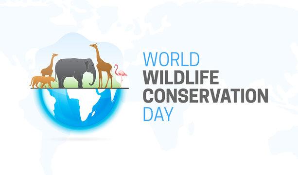 World Wildlife Conservation Day  Background Illustration