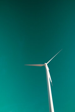 Sustainable wind energy concept view