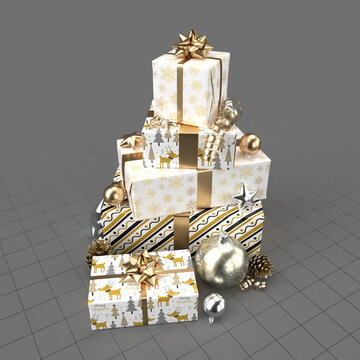 Christmas gifts with decorations 3