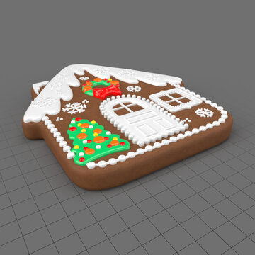 House Christmas cookie