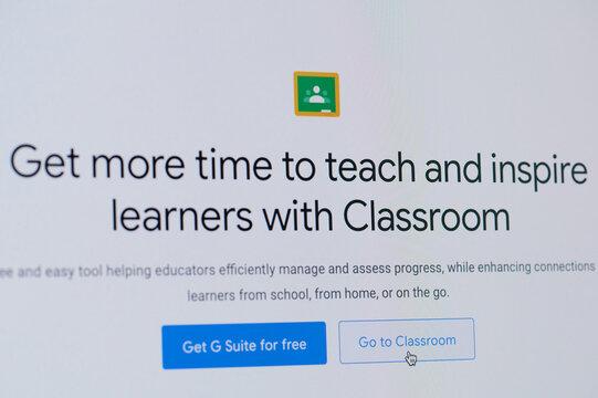 Entering go to google classroom
