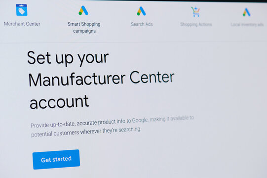 Setting up manufacture google center